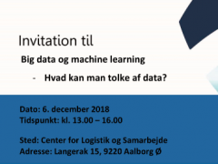 Big data og machine learning - Hvad kan man tolke af data?